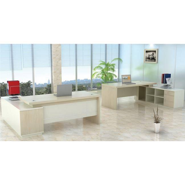 PLANET Γραφείο -Δεξ.Γωνία- 180x180cm Απ.Σημύδας/Λευκό ΕΟ920,R