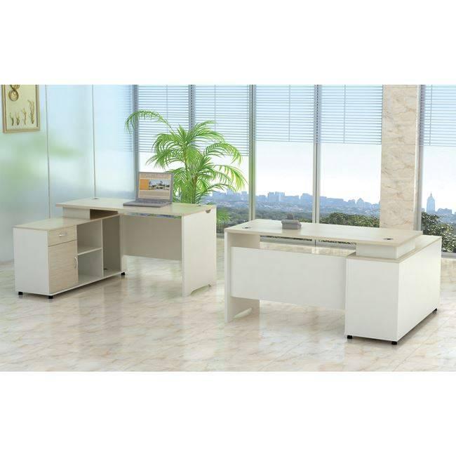 PLANET Γραφείο -Αρ.Γωνία- 160x120cm Απ.Σημύδας/Λευκό ΕΟ922,L