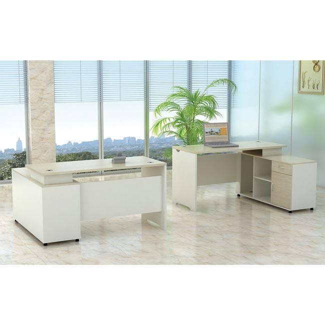PLANET Γραφείο -Δεξ.Γωνία- 160x120cm Απ.Σημύδας/Λευκό ΕΟ922,R