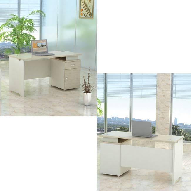 PLANET Γραφείο&Ντουλάπι(1 πόρτα&1 συρτ) 140x60cm Απ.Σημύδας/Λευκό ΕΟ923