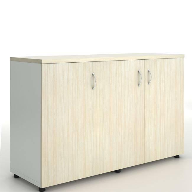 PLANET Ντουλάπι Πλαϊνό (3 πόρτες) 120x40x80cm Απ.Σημύδας/Λευκό ΕΟ925