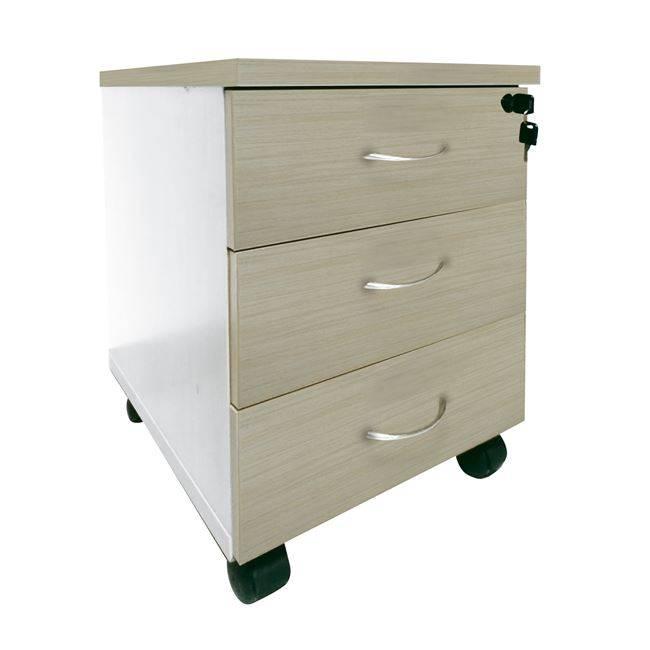 PLANET Συρταριέρα (3 συρτ) 39x47x52cm Απ.Σημύδας/Λευκό ΕΟ927