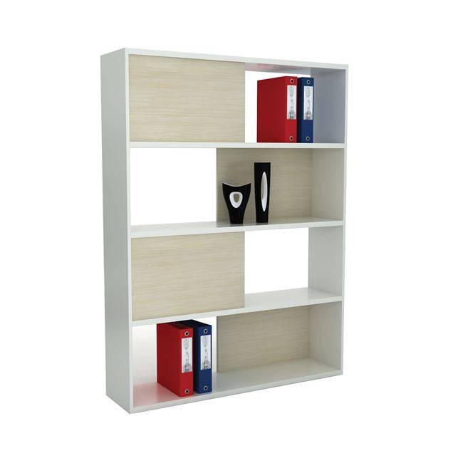 PLANET Βιβλιοθήκη 120x30x161cm Απ.Σημύδας/Λευκό ΕΟ929