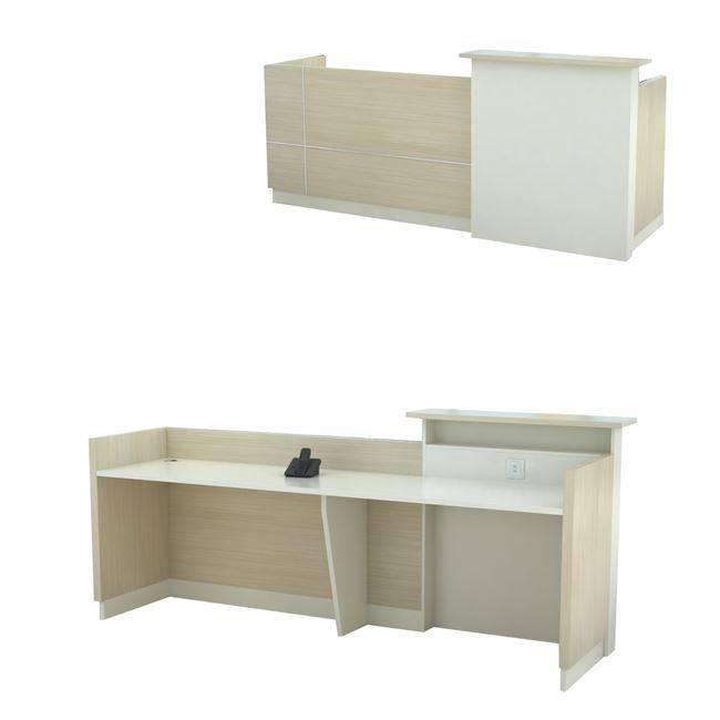 PLANET Reception 240x60x105cm Απ.Σημύδας/Λευκό ΕΟ930