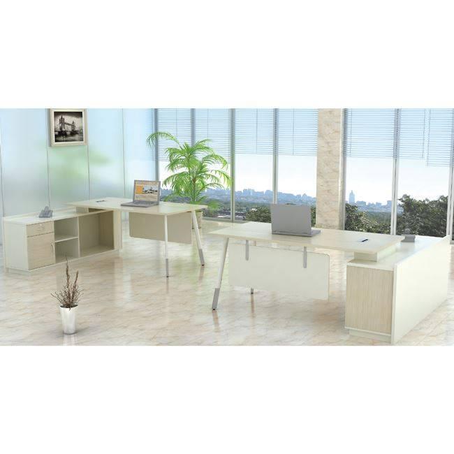 PLANET Metal Γραφείο -Αρ.Γωνία- 160x160cm Απ.Σημύδας/Λευκό ΕΟ932,L