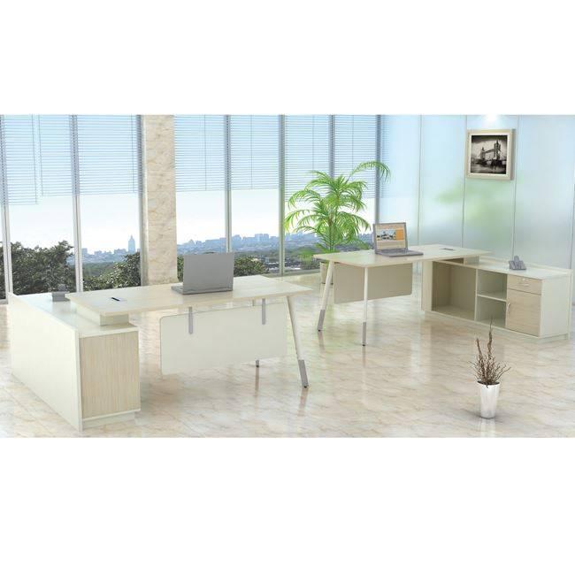 PLANET Metal Γραφείο -Δεξ.Γωνία- 160x160cm Απ.Σημύδας/Λευκό ΕΟ932,R