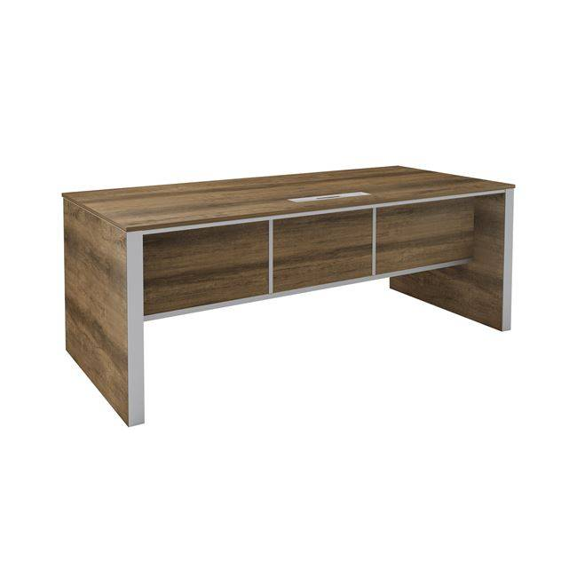 ALPINE Inox Γραφείο 160x80cm Brown Oak ΕΟ971,20