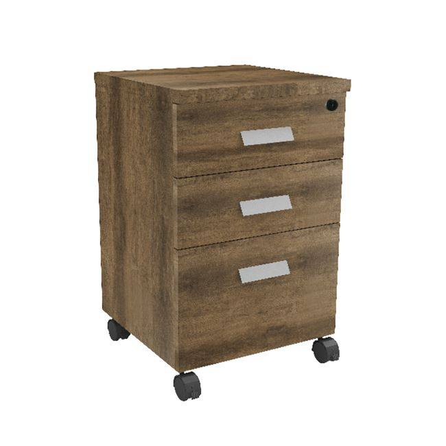 ALPINE Συρταριέρα 3-Συρτ.40x40x65cm Brown Oak ΕΟ978,0