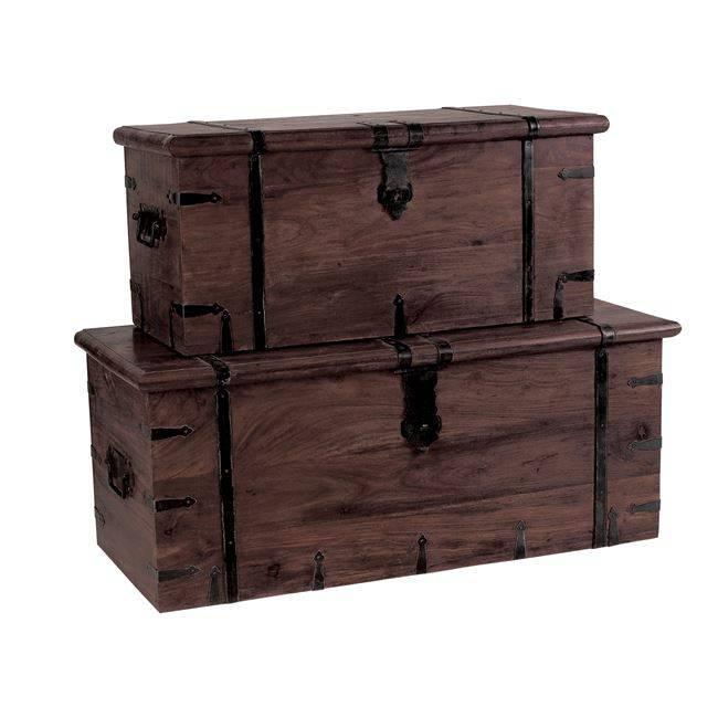 BOX Μπαούλο (Νο.1) 102x46x40cm, Sheesham Καρυδί ΕΣ220,1