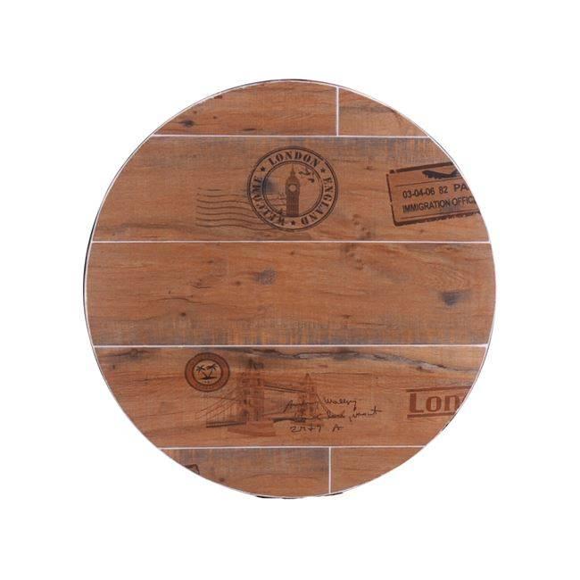 RETRO ΚΑΠΑΚΙ Κεραμικό Φ60/5cm Antique Brown (Εσ.Χώρου) Ε001,1