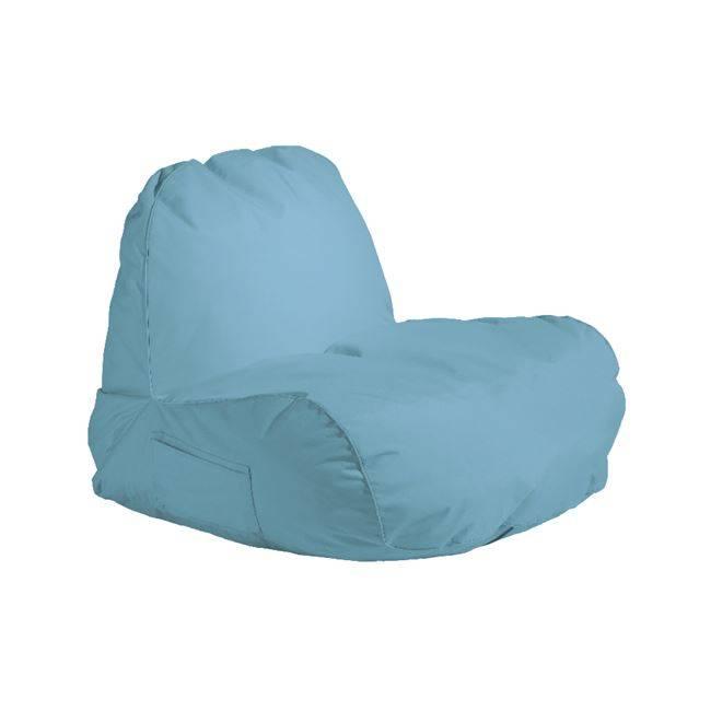 POGO Πολυθρόνα Πουφ Ύφ.Γαλάζιο 100% Αδιάβροχο Ε020,4