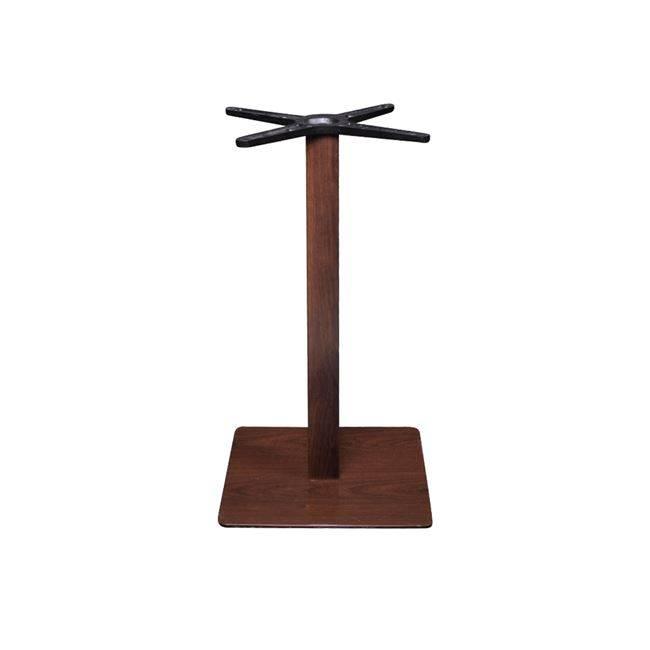 PRATO Βάση 40x40cm Steel H72cm Σκ.Καρυδί Απ.Ξύλου Ε068,3