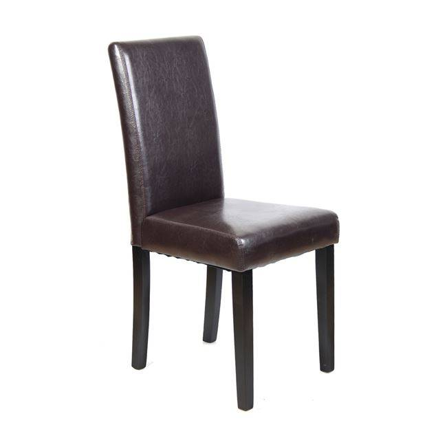 MALEVA-L Καρέκλα Pu Καφέ/Wenge Ε1207
