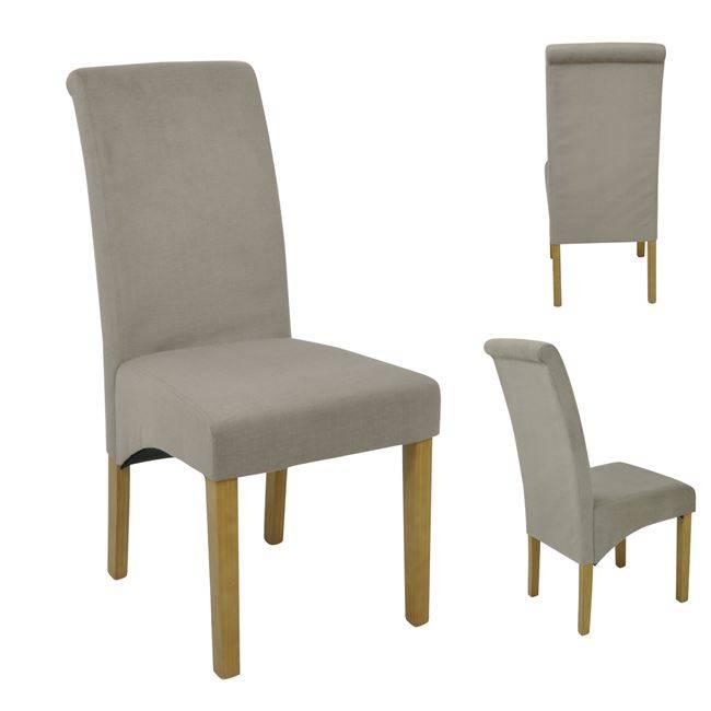 MALEVA-H Καρέκλα Ύφ.Αδιάβροχο Μπεζ/απόχρ.Δρυς Ε1211,1
