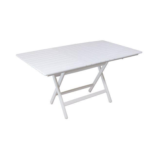 FOLDING Τραπ.80x160cm Πτυσ/νο, Λευκό Οξυά Ε2109,2