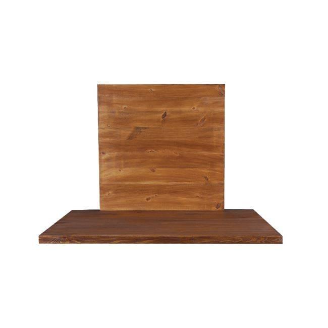 PINE Καπάκι 70x70/4cm, Καρυδί (Ξύλο πεύκου) Ε2207,1