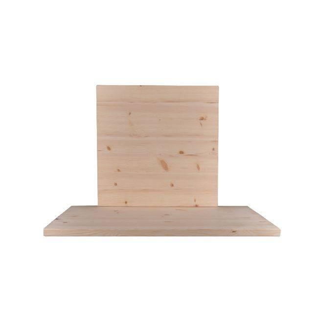 PINE Καπάκι 80x80/4cm, Άβαφο (Ξύλο πεύκου) Ε2208