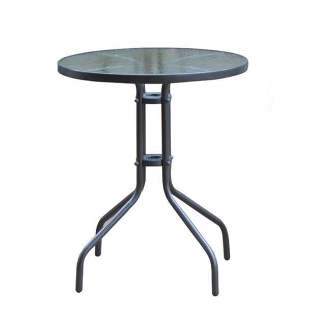 BALENO Τραπέζι Φ60cm Μεταλλικό Γκρι Ε2400,1