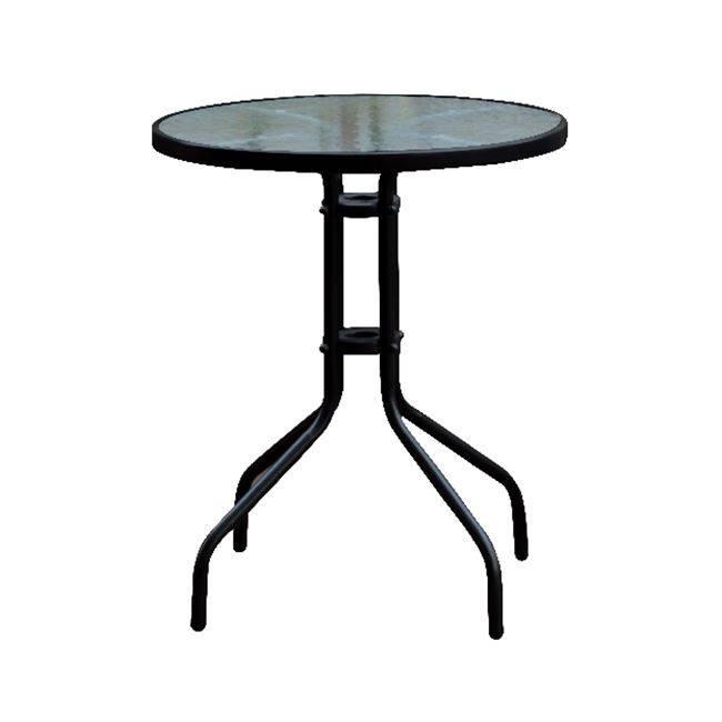 BALENO Τραπέζι Φ60cm Μεταλλικό Μαύρο Ε2400,3