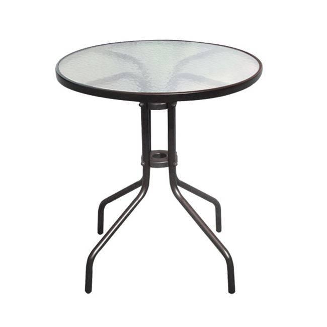 BALENO Τραπέζι Φ60cm Μεταλλικό Καφέ Ε2400