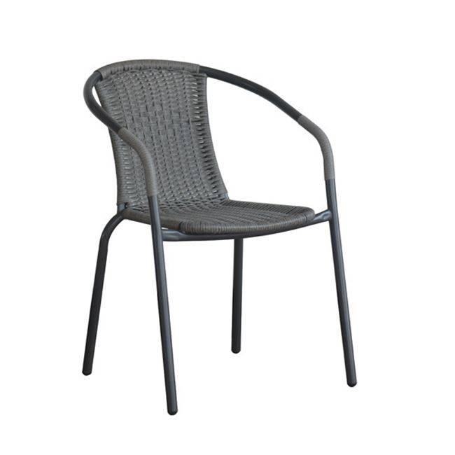BALENO Πολυθρόνα Μεταλ.Γκρι/Mixed Grey Wicker Ε2401,1