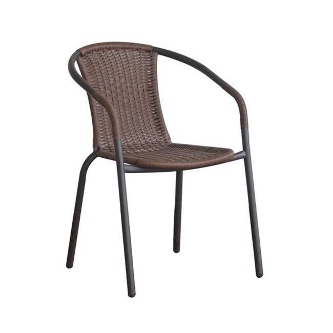 BALENO Πολυθρόνα Μεταλ.Καφέ/Brown Wicker Ε2401