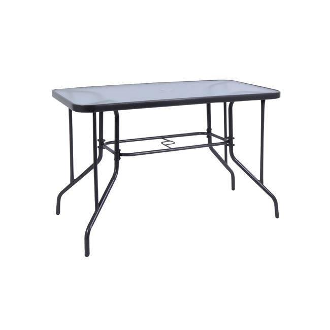 BALENO Τραπέζι 110x60cm Μεταλλικό Γκρι Ε2403,1