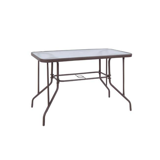BALENO Τραπέζι 110x60cm Μεταλ.Καφέ Ε2403