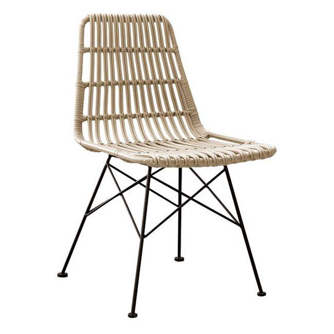 SALSA Καρέκλα Μεταλ.Μαύρη/Wicker Φυσικό Ε241,1