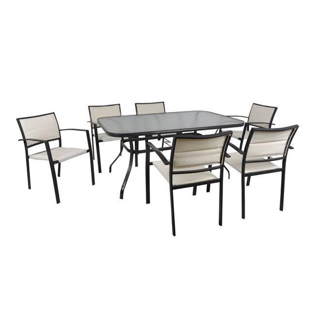WALTER Τραπέζι 153x96cm Μεταλ.Ανθρακί Ε2506,2