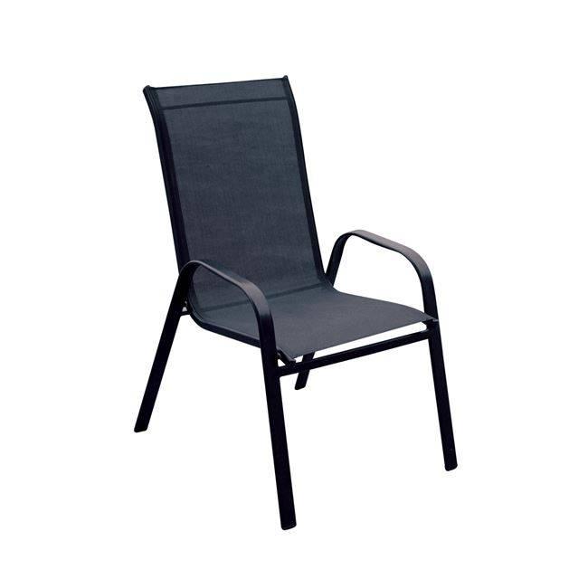 RIO Πολυθρόνα Μεταλλική Μαύρη/Textilene Μαύρο Ε270,3