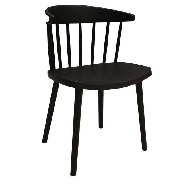 WESTING Καρέκλα PP Μαύρη Ε304,1
