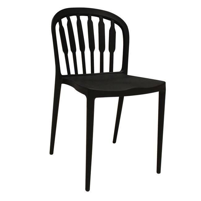 VIRGINIA Καρέκλα PP Μαύρη Ε314,1