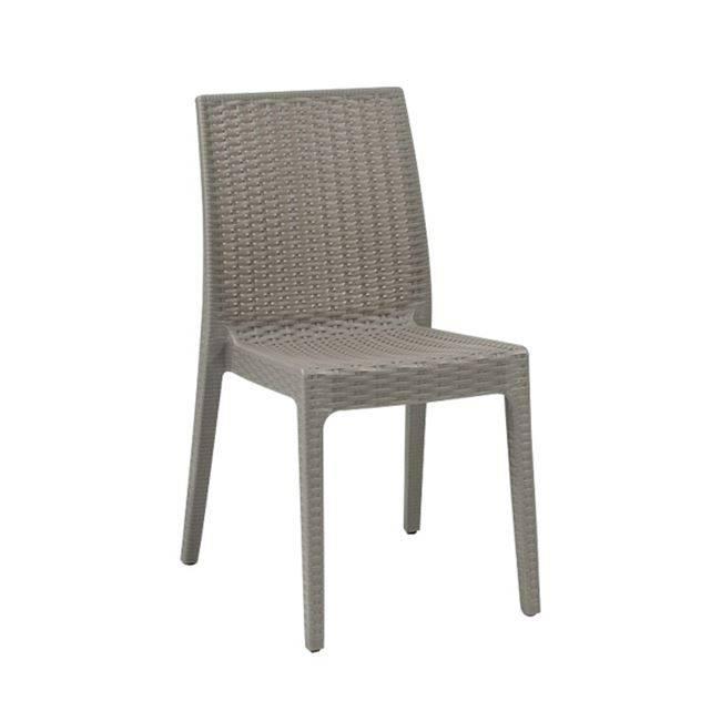 DAFNE Καρέκ.Πλαστική Μπεζ Tortora (Rattan Look) Ε328,4