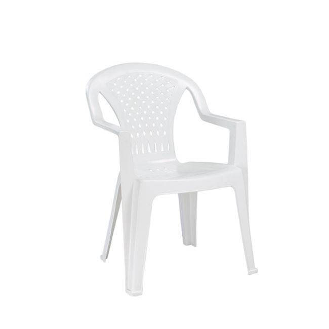 PORTOFINO Πολυθ.Στοιβαζόμενη Πλαστική Άσπρη Ε351