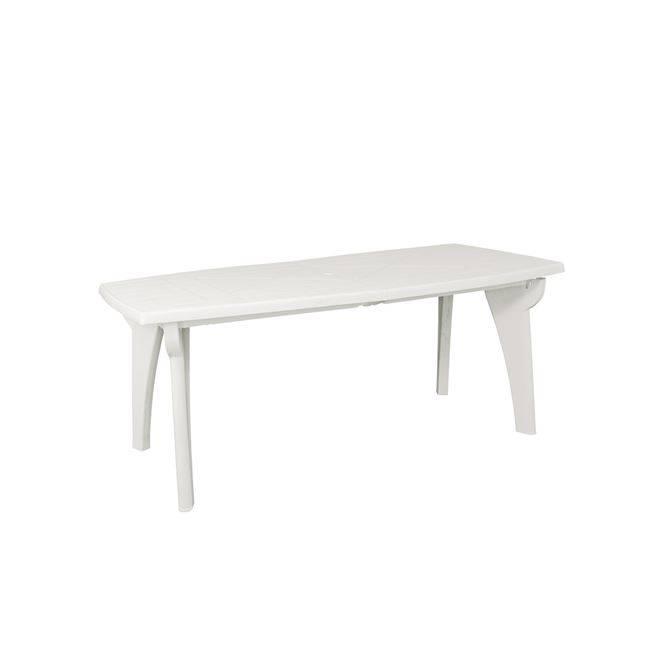 LIPARI Τραπ.180x90cm Πλαστικό Λευκό Ε363