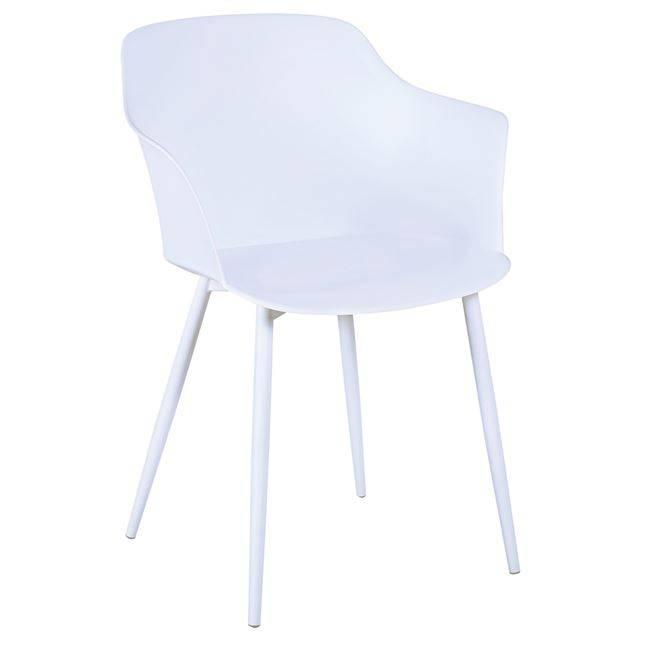 GLORIA Πολυθρόνα Μέταλλο & PP-UV Λευκό Ε374,1