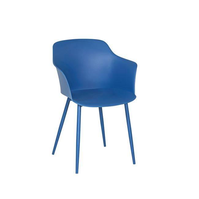 GLORIA Πολυθρόνα Μέταλλο & PP-UV Μπλε Ε374,5
