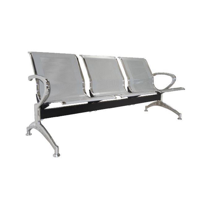Κάθισμα Υποδοχής 3-Θ Γκρι (Σκελ.Χρώμιο) Ε503,01