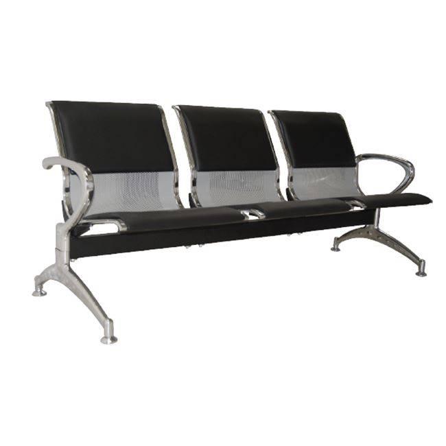 Κάθισμα Υποδοχής 3-Θ Μαύρο PVC (Σκελ.Χρώμιο) Ε503,02