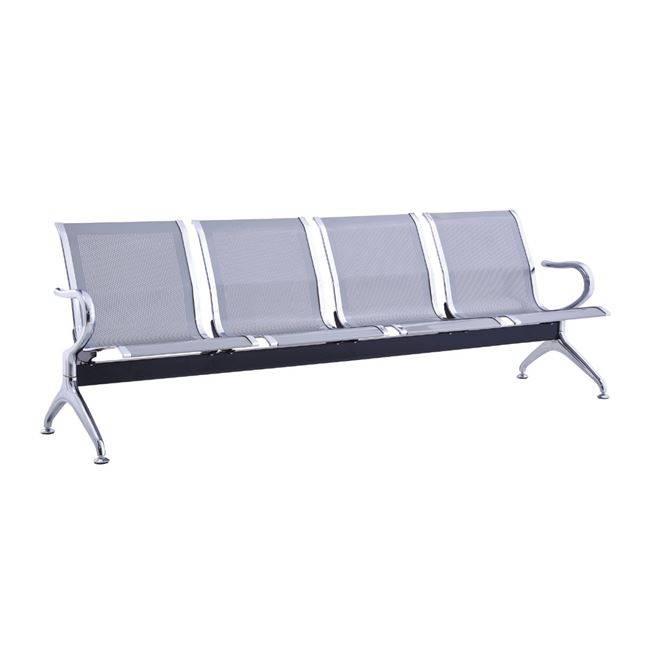 Κάθισμα Υποδοχής 4-Θ Γκρι (Σκελ.Χρώμιο) Ε504,01