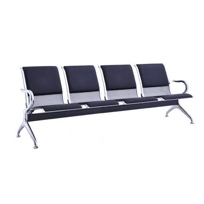 Κάθισμα Υποδοχής 4-Θ Μαύρο PVC (Σκελ.Χρώμιο) Ε504,02