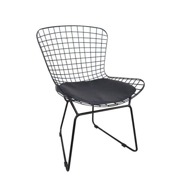 SAXON Καρέκλα Μεταλ.Mesh Μαύρη Μαξ.Μαύρο Pu Ε5142