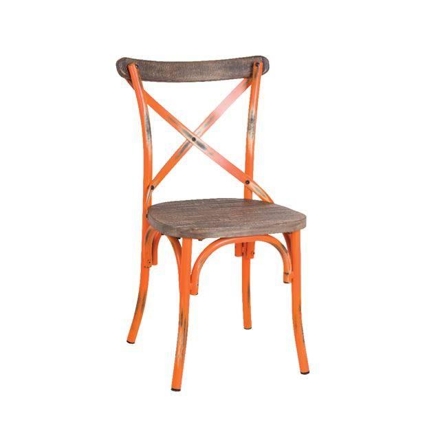 DESTINY Wood Καρέκλα Μεταλ.Antique Orange Ε5189,90