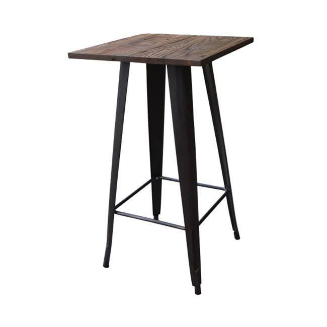 RELIX Wood Dark Oak Τραπέζι BAR 60x60 Μεταλ.Antique Black Ε5197,10