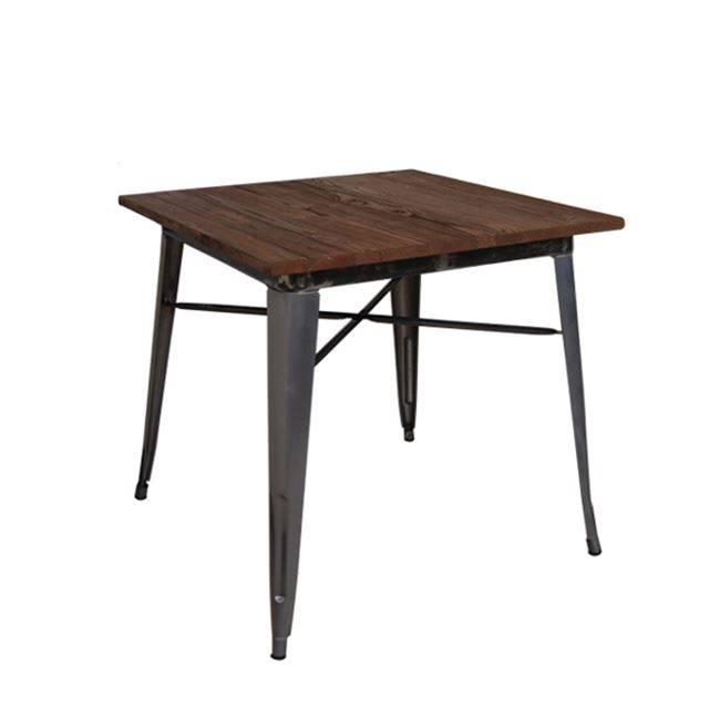 RELIX Wood Dark Oak Τραπέζι 80x80 Metal Ε5198,6