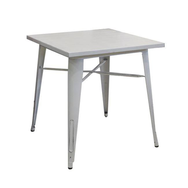 RELIX Τραπέζι 80x80 Μεταλ.Antique White Ε5201,12