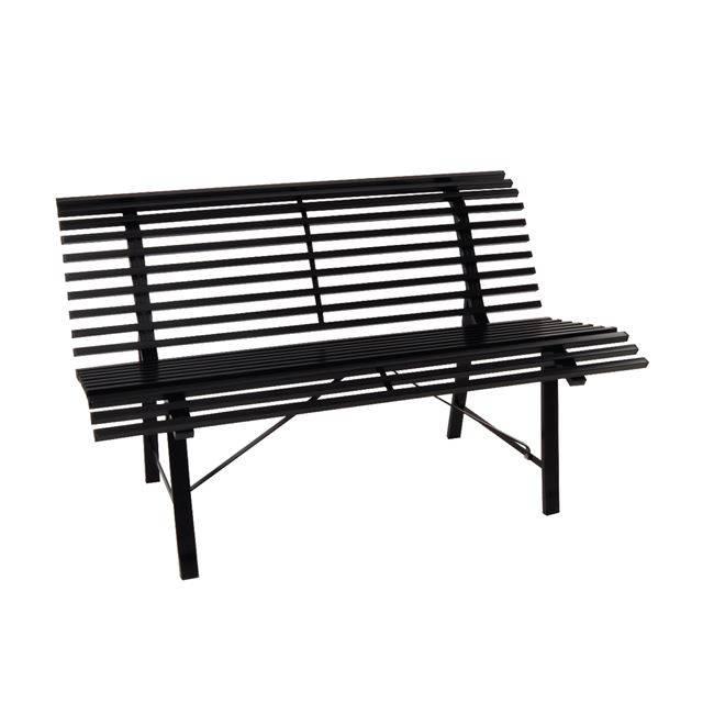 STANLEY Παγκάκι Μεταλ.Μαύρο 125x57cm Ε522