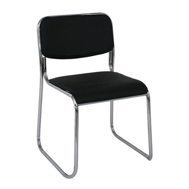 CAMPUS Καρέκλα Χρώμιο/Hard PVC Μαύρο Ε553,1