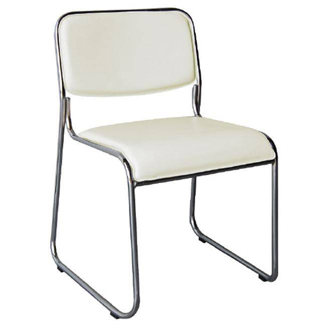 CAMPUS Καρέκλα Χρώμιο/Soft Pu Εκρού Ε553,2W